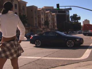 Street hooker engulfing jock in the car
