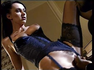 black brown hair in lingerie take a black penis in ass anal troia takes hard penis in the ass all the way billibongs