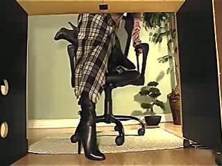 Underdesk web camera dark boots