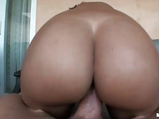 Big arse ebon sweetheart with pierced teats acquires her beaver rammed
