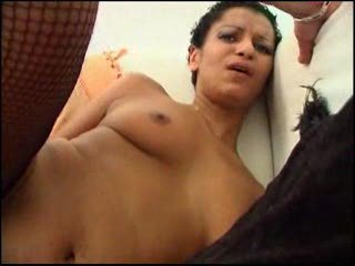Short Haired Darksome Gal Receives Fucked