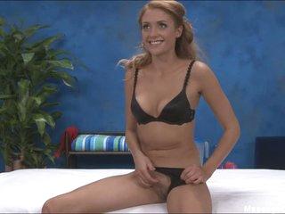 Pleasing Ashton in dark bra and pants