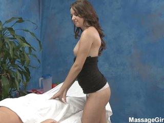 Masage gal Pressley in hot mini costume