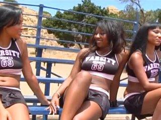 Dark Lesbian Hunters, Hot CheerleadersThreesome