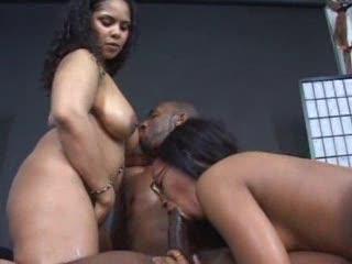 Black sweetheart lesbo sex and hardcore Trio