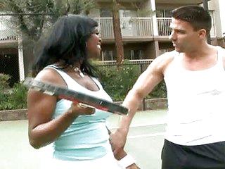 Brown suga honey played tennis then fucking hard