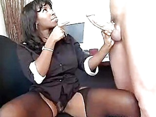 Ebony sweetheart Vanessa Blue takes a white recent 10-Pounder in her warm face aperture