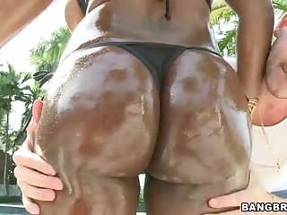 Moist darksome porn diva Jada Fire with big milk sacks and a-hole