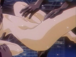 Perverted Anime Honey Acquires Finger Drilled by Ebony Hands
