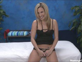 Blonde beauty Kiara in darksome panties